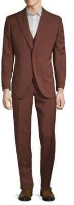 Brioni Wool & Silk Striped Suit