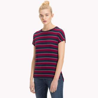 Tommy Hilfiger Stripe Cap Sleeve T-Shirt