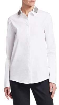 Fabiana Filippi Brilliant Trim Long Sleeve Shirt