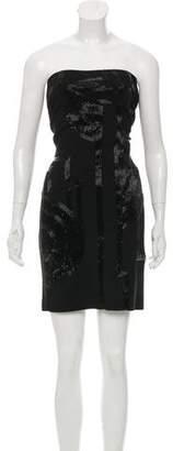 Ralph Lauren Black Label Strapless Embellished Dress