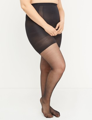 Lane Bryant Ultra High-Waist Shimmer Sheer Shaping Tights