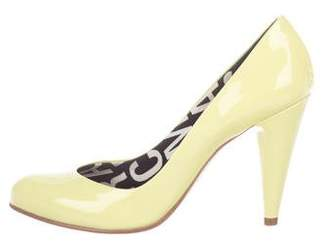 Marc Jacobs Patent Leather Semi Pointed-Toe Pumps