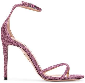 Aquazzura glitter strappy stiletto sandals