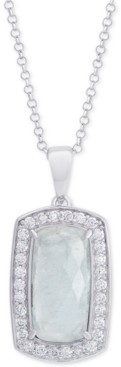 "Macy's Amethyst (3-1/5 ct. t.w.) & Cubic Zirconia 18"" Pendant Necklace in Sterling Silver (Also Available in Labradorite, Aqua Quartz and Rose Quartz)"