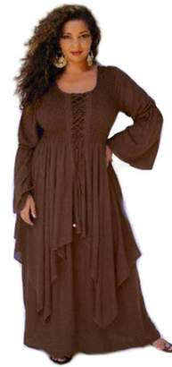 Lotustraders Dress Long Layered Lagenlook Chic Laced Bodice 5X R181