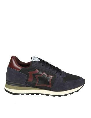 Atlantic Stars Argo Sneakers In Suede Color Blue And Bordeaux
