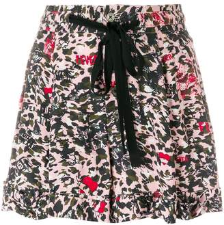 Zadig & Voltaire print fitted shorts