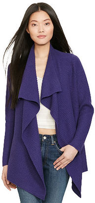 Polo Ralph Lauren Ribbed Wool-Cashmere Cardigan $398 thestylecure.com