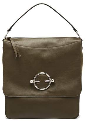 J.W.Anderson Disc Leather Hobo Bag - Womens - Khaki