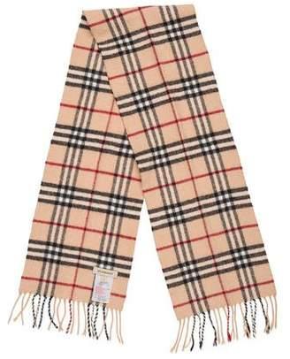 Burberry Cashmere & Merino Wool Nova Check Scarf
