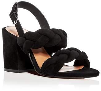 Rebecca Minkoff Women's Candace Suede Slingback Block Heel Sandals