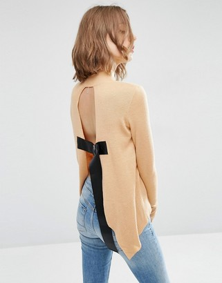 ASOS Sweater with Open Back $46 thestylecure.com