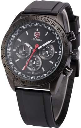 Swell SHARK SPORT WATCH Shark Men's Analog Date Day Black Rubber Band Quartz Wrist Watch SH272