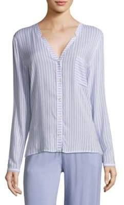 Hanro Sleep& Lounge Woven Long Sleeve Shirt