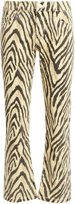 Current/Elliott Current/Elliot The Ruby Zebra Crop Jeans