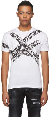 DSQUARED2 White Logo Tape T-Shirt
