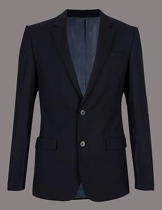Marks and Spencer Navy Slim Fit Italian Wool Jacket