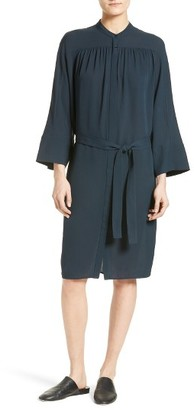 Women's Vince Silk Shirtdress $425 thestylecure.com