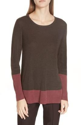 Eileen Fisher Colorblock Tencel(R) Lyocell & Silk Sweater