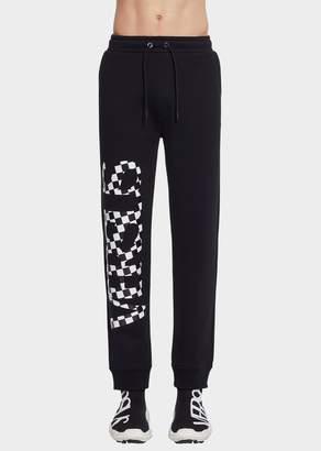 Versace Check vs Logo Men's Sweatpants