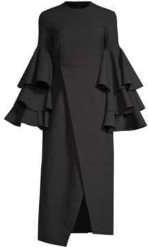 SOLACE London Minelli Statement Sleeve Dress
