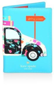 Kate Spade Kate Spade New York Scenic Route Car Applique Leather Passport Holder