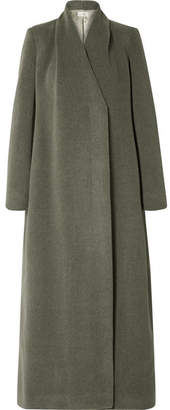 The Row Nalty Wool-blend Twill Coat - Green