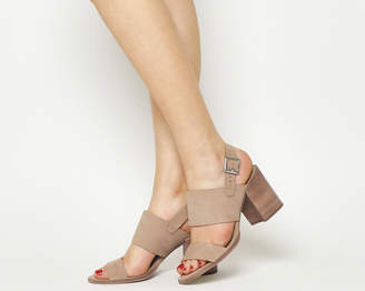 ad71c4e70460 Office Maddox Two Part Block Heels Nude Nubuck