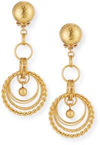 Jose & Maria Barrera 24K Gold-Plated Chain Drop Clip-On Earrings