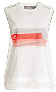 adidas by Stella McCartney Women's Organic Cotton Logo Tank Top