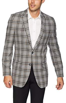Haggar Men's Multi Plaid Fancy Tailored Fit 2-Button Sport Coat