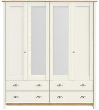 Consort Furniture Limited Tivoli 4 Door Mirrored Wardrobe