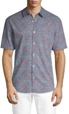 Original Penguin Short-Sleeve Floral Button-Down Shirt