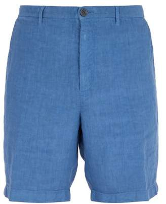 120% Lino Slim Fit Linen Shorts - Mens - Dark Blue