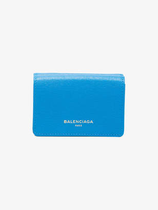 Balenciaga Blue leather mini wallet