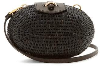 Khokho - Lindi Minaudière Leather Trimmed Basket Bag - Womens - Black