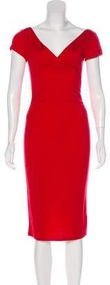 Diane von Furstenberg V-Neck Midi Dress