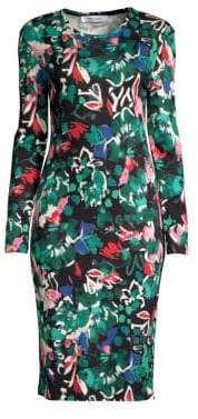 Prabal Gurung Floral Long-Sleeve Jersey Dress