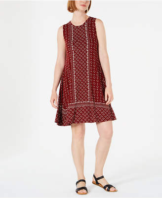Style&Co. Style & Co Printed Sleeveless Swing Dress