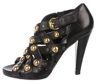 Gucci Studded Caged Sandals Black Studded Caged Sandals