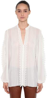 Giamba Georgette & Lace Blouse