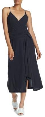 Lush Sleeveless Front Knot Midi Dress