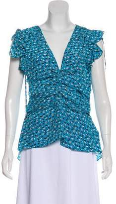 Veronica Beard Silk Sleeveless Blouse
