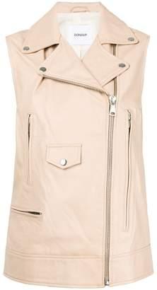 Dondup leather biker vest