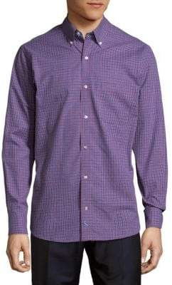 Tailorbyrd Checkered Cotton Button-Down Shirt