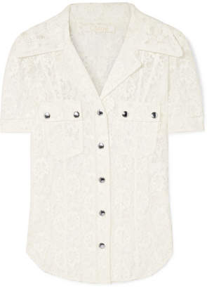 Chloé Cotton-blend Lace Blouse - Ivory