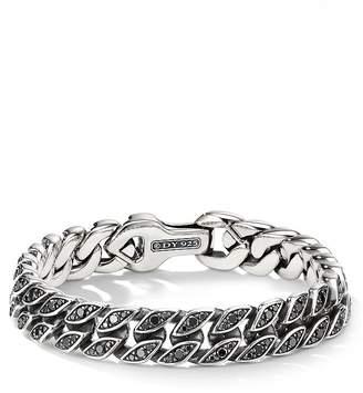 David Yurman Curb Chain Bracelet with Black Diamonds