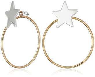BCBGeneration BCBG Generation Two-Tone Star and Circle Front Back Earrings