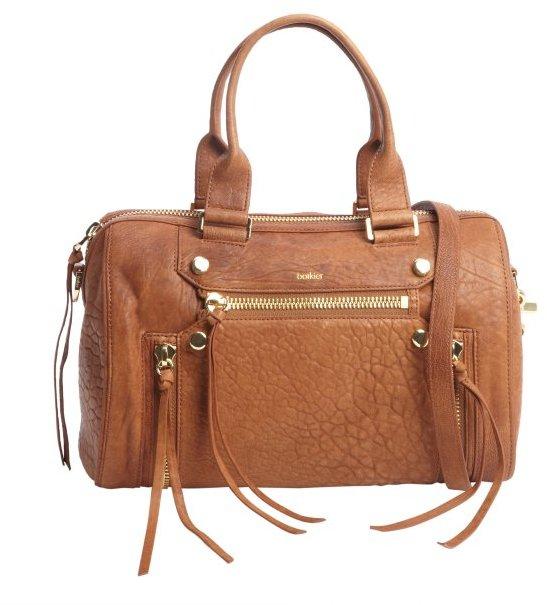 Botkier brandy leather 'Logan' small satchel