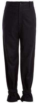 Joseph Birkeland tapered-leg wool-felt trousers